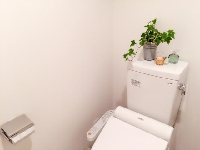 キレイなタンクありトイレの画像