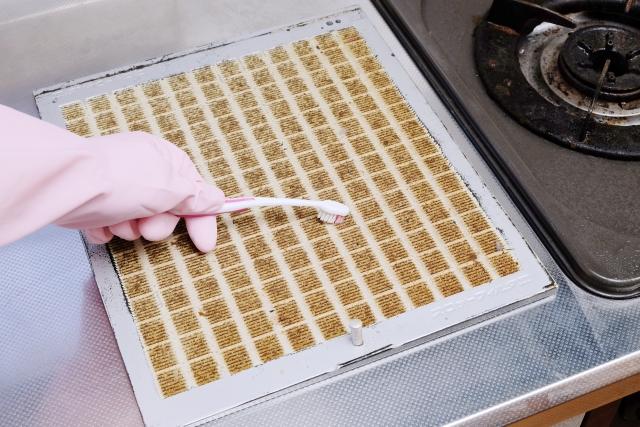 換気扇のフィルター掃除の画像